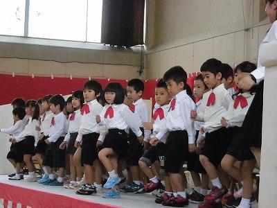平成27年度下庄地区敬老会 誓念寺中野保育園児の発表/どこまでもアマチュア
