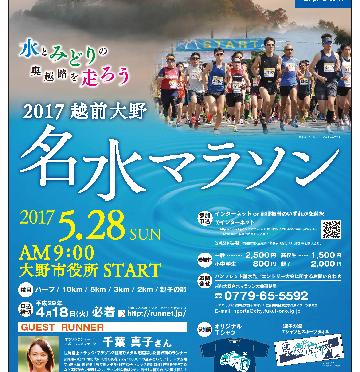 第53回越前大野名水マラソン2017 ポスター